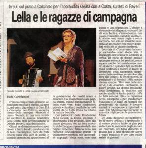 Davide Bonetti accompagna Lella Costa al festival Acque e Terre